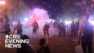 Police and protesters clash amid unrest across America