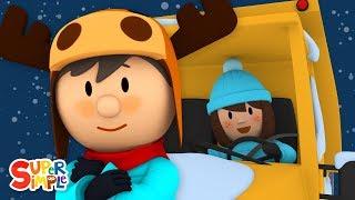 Sarah's Snow Plow Is Frozen Stuck   Carl's Car Wash   Cartoons for Kids