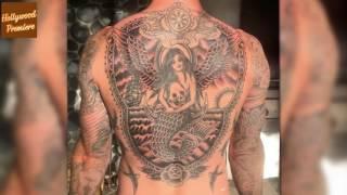 Adam Levine Shows Off Huge Back Tattoo