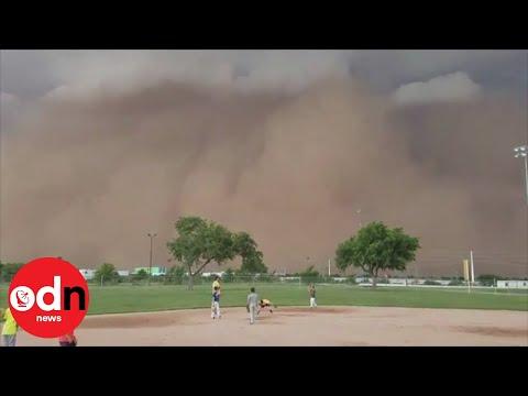Rare 'haboob' dust storm interrupts children's baseball game in Texas