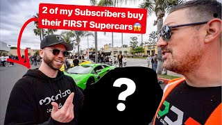 2 DDE SUBSCRIBERS BUY THEIR FIRST SUPERCARS! *EMOTIONAL*