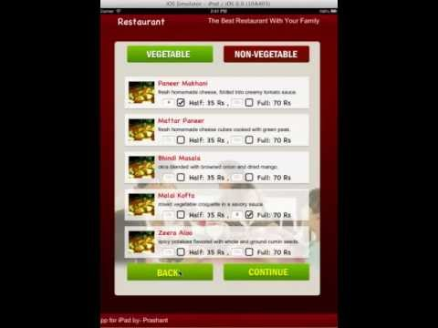 iPad Menu for Restaurants and Hotels -By: Prashant Lohani