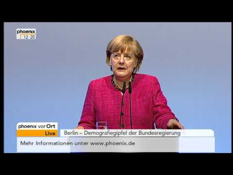 Demografiegipfel mit der Rede von Angela Merkel am 14.05.2013