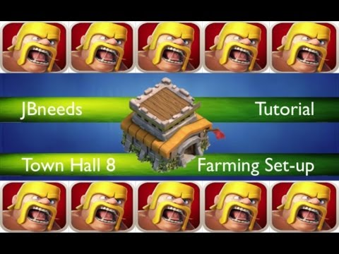Clash of Clans Town Hall level 8 Farming Set-up (updated)