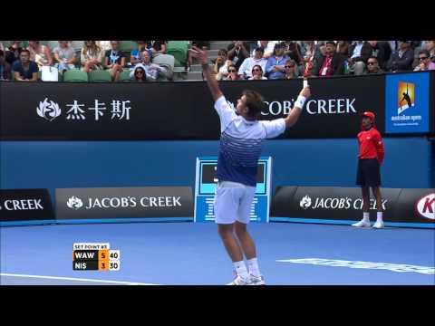 【錦織圭】2015全豪オープン 準々決勝 VS スタニスラス・ワウリンカ 3-6、4-6、5-7のキャプチャー