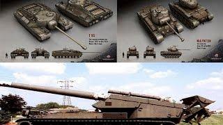 World of Tanks обзор американских танков Т 95,Т 92,М46 PATTON
