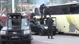 Malaysian Special Forces Demonstrate Bus Assault