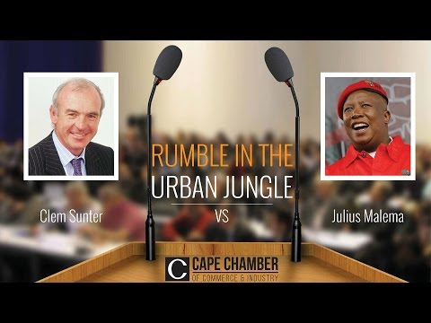 FULL STREAM: Clem Sunter Vs Julius Malema full Cape Chamber of Commerce debate on economy