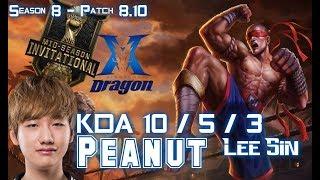 KZ Peanut LEE SIN vs XIN ZHAO Jungle - Patch 8.10 EUW Ranked