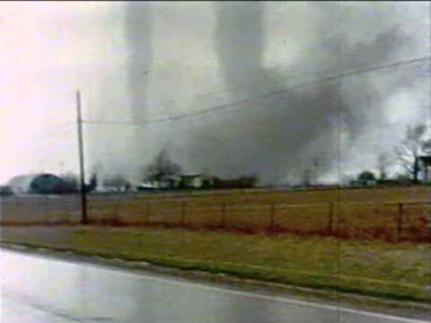 Xenia, OH & Muncie, IN  tornado Movies (Silent) From April 3, 1974 Outbreak