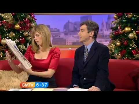 Kate Garraway [GMTV] - Black Bra & Cleavage Downtop.