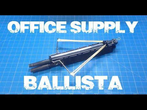 DIY Mini Crossbow Office Supply Ballista