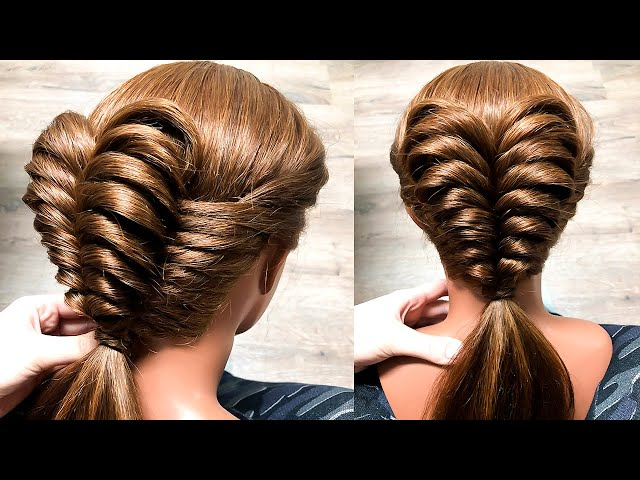 Простая Красивая прическа)) Посмотри. Новая коса из резинок . Easy Braids with elastic. ©LOZNITSA