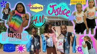 SHOPPING AT JUSTICE /FOREVER 21 / VICTORIA SECRET  / H&M / THE CHILDREN PLACE / CLAIRE'S