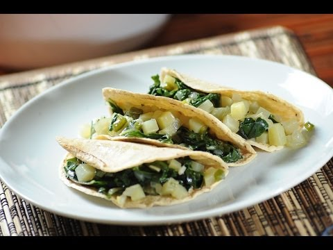 Tacos de acelgas - Swiss chard tacos- Recetas de cocina mexicana