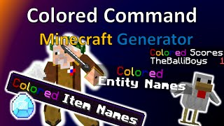 Color Command Generator | How get colored Item Names and more!  |1.9 & 1.10