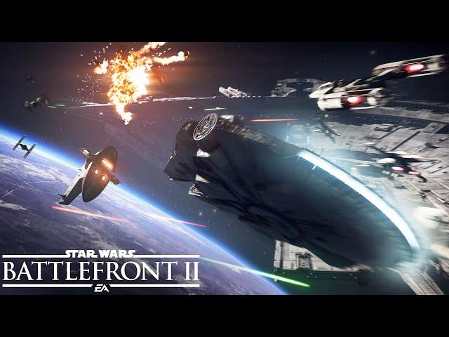 Star Wars Battlefront 2 Official Starfighter Assault Gameplay Trailer