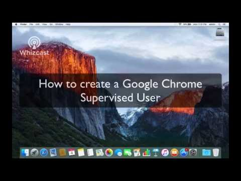 Add a supervised user to Google Chrome under Mac OS X