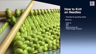 How to Knit - Cast On Beginner (with closed captions)