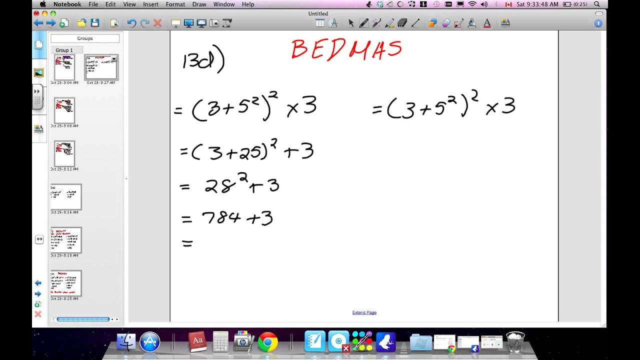 Order of Operations BEDMAS and Multiples Grade 7 Nelson ...