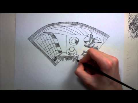 Simple Anamorphic Illusion Drawing
