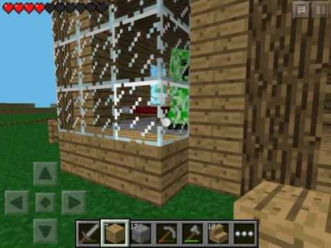 Let's play Minecraft Pocket Edition #7 - Строим дом #4