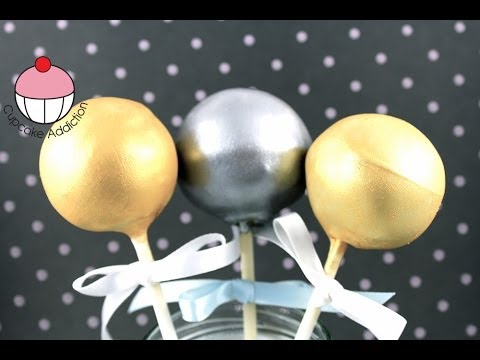GOLDEN CAKEPOPS! How to Make Metallic Gold & Silver Cake Pops - A Cupcake Addiction Tutorial