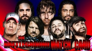 WWE Battleground 2016 Match card