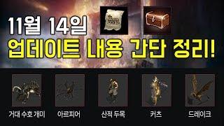 리니지M 폐쇄된훈련장,축복의상자 (11월 14일 업데이트 내용 간단 정리)