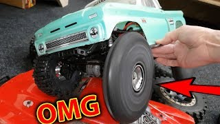 FUN With Inflatable RC Car Tires on Traxxas TRX-4 Will they POP?