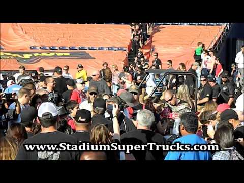 Robby Gordons Speed Energy Stadium Super Trucks Pre Race Interview Qualcomm Stadium 5-18-2013