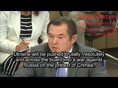 US is militarizing Ukraine to invade Russia. Sergei Glazyev