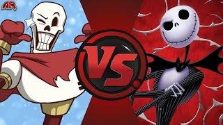 PAPYRUS vs JACK SKELLINGTON! (Undertale vs Disney) Cartoon Fight Club Episode 142