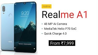 Realme A1 - 48 MP Camera, 5G, Android 9.0 Pie, Price And Specs