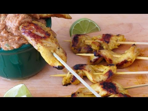 Brochetas de Pollo Tailandes -- The Frugal Chef