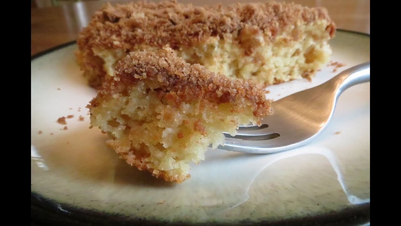 Gluten Free Cinnamon Sugar Coffee Cake - YouTube