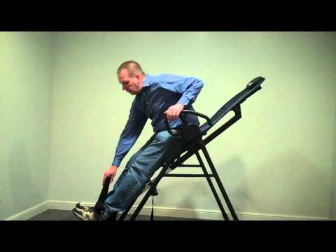 Teeter Hang Ups EP-950 Inversion Table Features and Demonstration - Funny Ending!