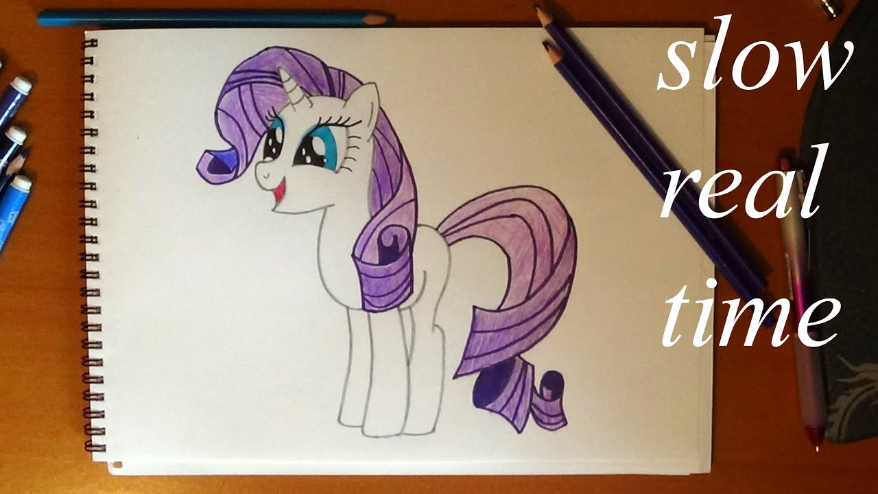 How To Draw My Little Pony Rarity Real Time Youtube