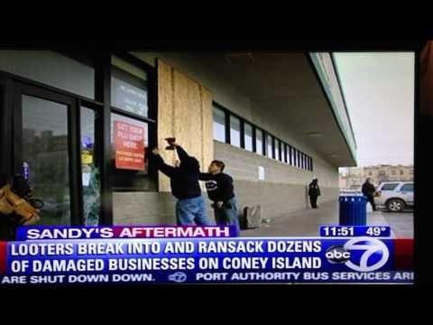 WABC7 News Report on Coney Island after Hurricane Sandy