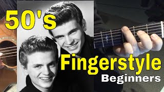 Learn the #1 Chord Progression of the 50's- Fingerstyle: Lesson 1
