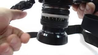 NIKON FM 35mm SLR Film Camera black with Nikon Nikkor 50mm f1.4 Lens
