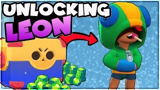 WE GOT LEON!! Gemming Legendary Brawler Leon | Brawl Stars | Mega Box Opening