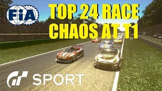 GT Sport Top 24 Chaos At T1 - FIA Manufacturer Round 8