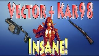 Vector is overpowerd | #vector + kar98= 14 kills # Insane game