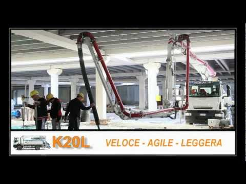 Video Mobilní čerpadlo betonu K20L
