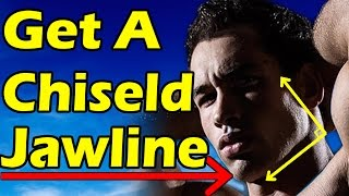 How to Get a Chiseled Jawline for Men & Teenagers   Lose Face Fat FAST (No Fat Reduction Exercises)