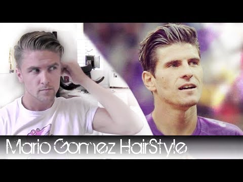 Mario Gomez hairstyle 2012 - How to style it with, hair wax, a brush and a blow dryer