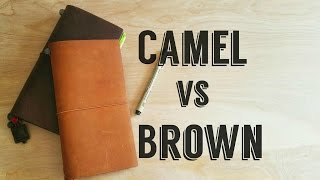 [Midori] Traveler's Notebook- Camel vs Brown