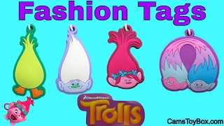 Dreamworks Trolls Light Up Fashion Tags Blind Bags Radz Candy Dispensers Poppy Surprise Toys