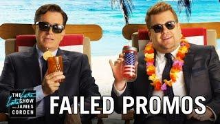 Failed Network Promos w/ Stephen Colbert & James Corden